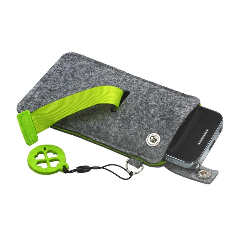 Eco Sence smartphone case, green/grey photo