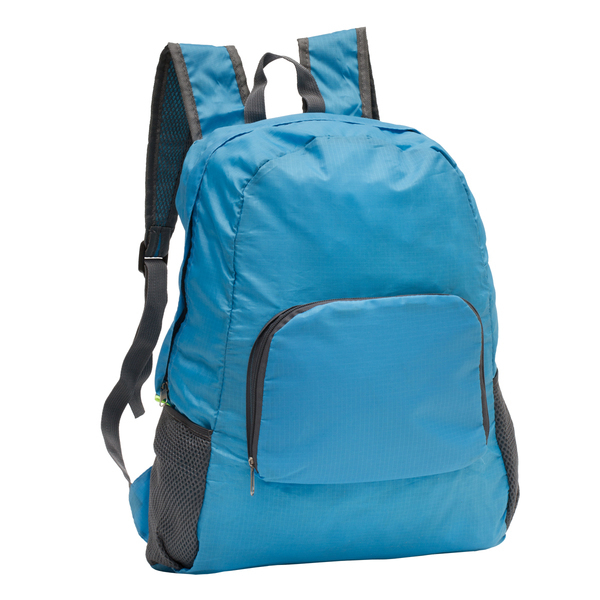 Belmont foldable backpack, blue photo
