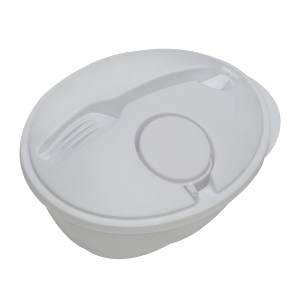 Veggy salad bowl, white photo