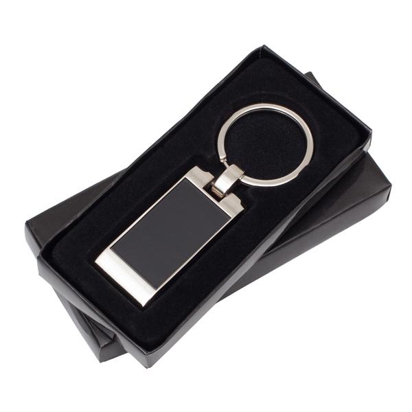 Forte metal keyring, black photo
